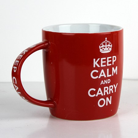 Bild von Kaffetasse - KEEP CALM and CARRY ON - ca. 9x9x9cm