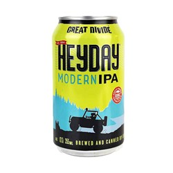 Bild von Great Divide Brewing  - HEYDAY - MODERN IPA- USA - 0,355l Dose